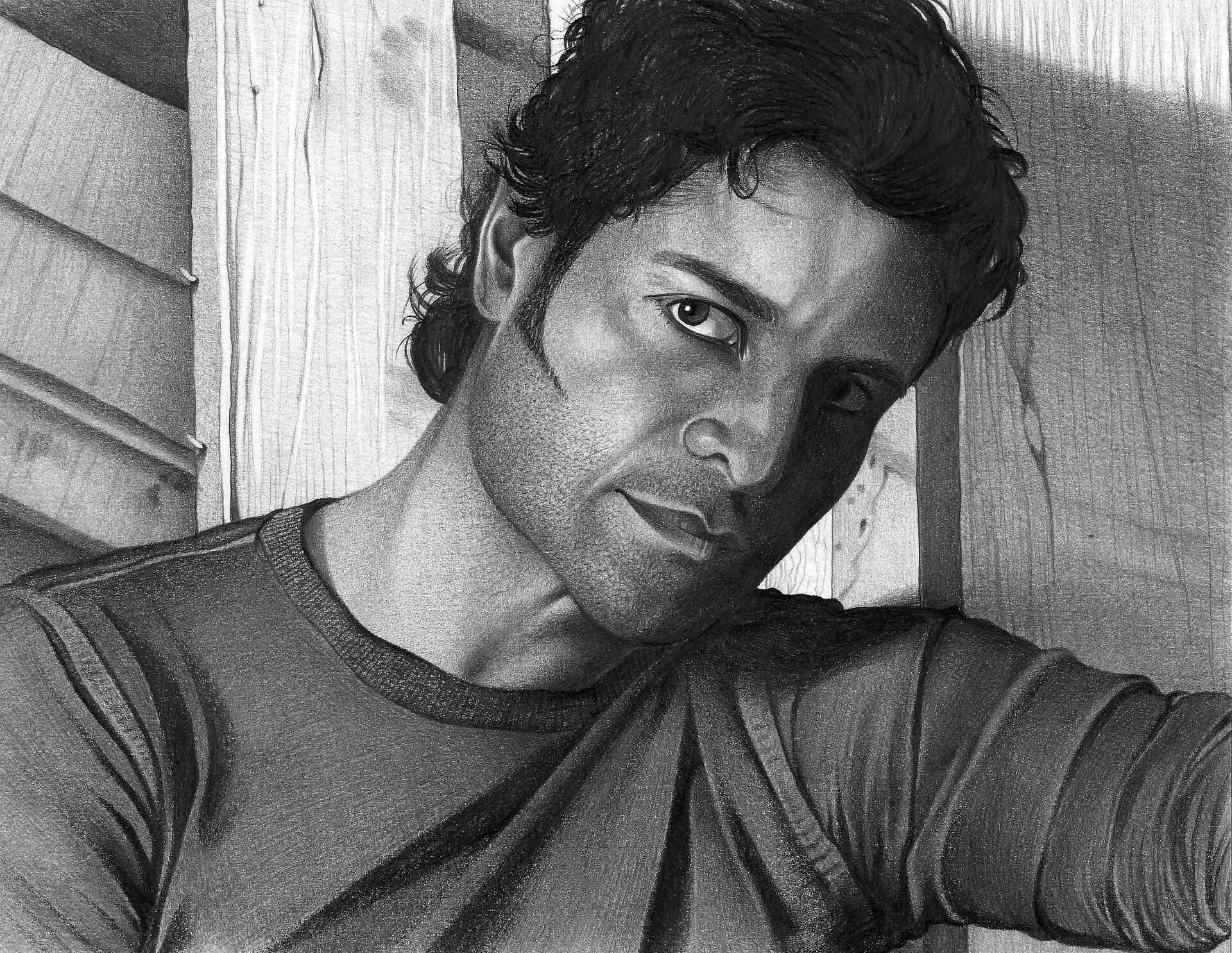 férfi ceruza portré rajz