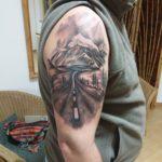 Hegy út tetoválás