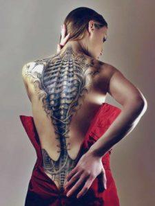 bio mechanikus tetoválás