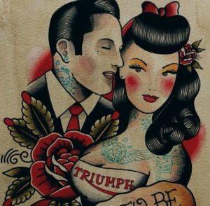 oldschool tetoválás