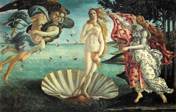 Festmény La Nascita Di Venere Botticelli